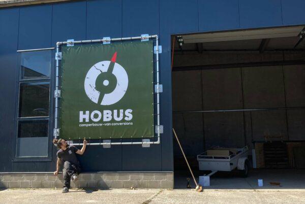 Gevel reclame Hobus