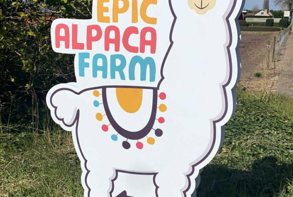 contour gesneden dibond paneel epic alpaca farm