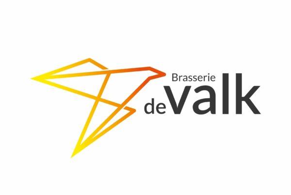 Brasserie De valk Rijkevorsel logo ontwerp