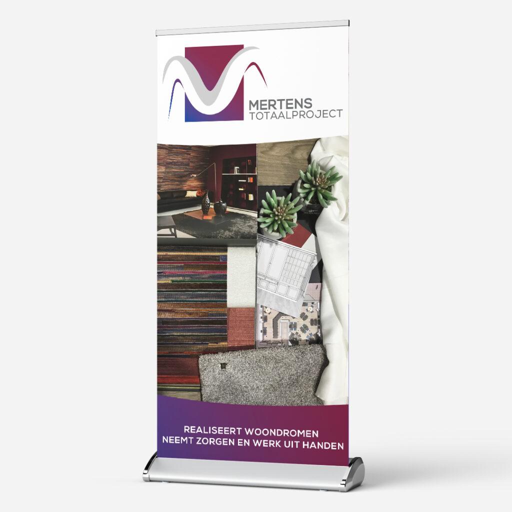 roll up banner Mertens totaalproject